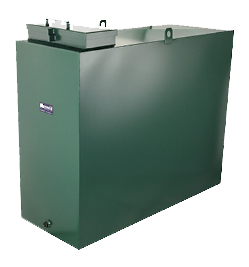 Square metal oil tank